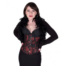 Load image into Gallery viewer, Gothic Red Design Corset