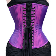Load image into Gallery viewer, Gothic Purple Iridescent Corset