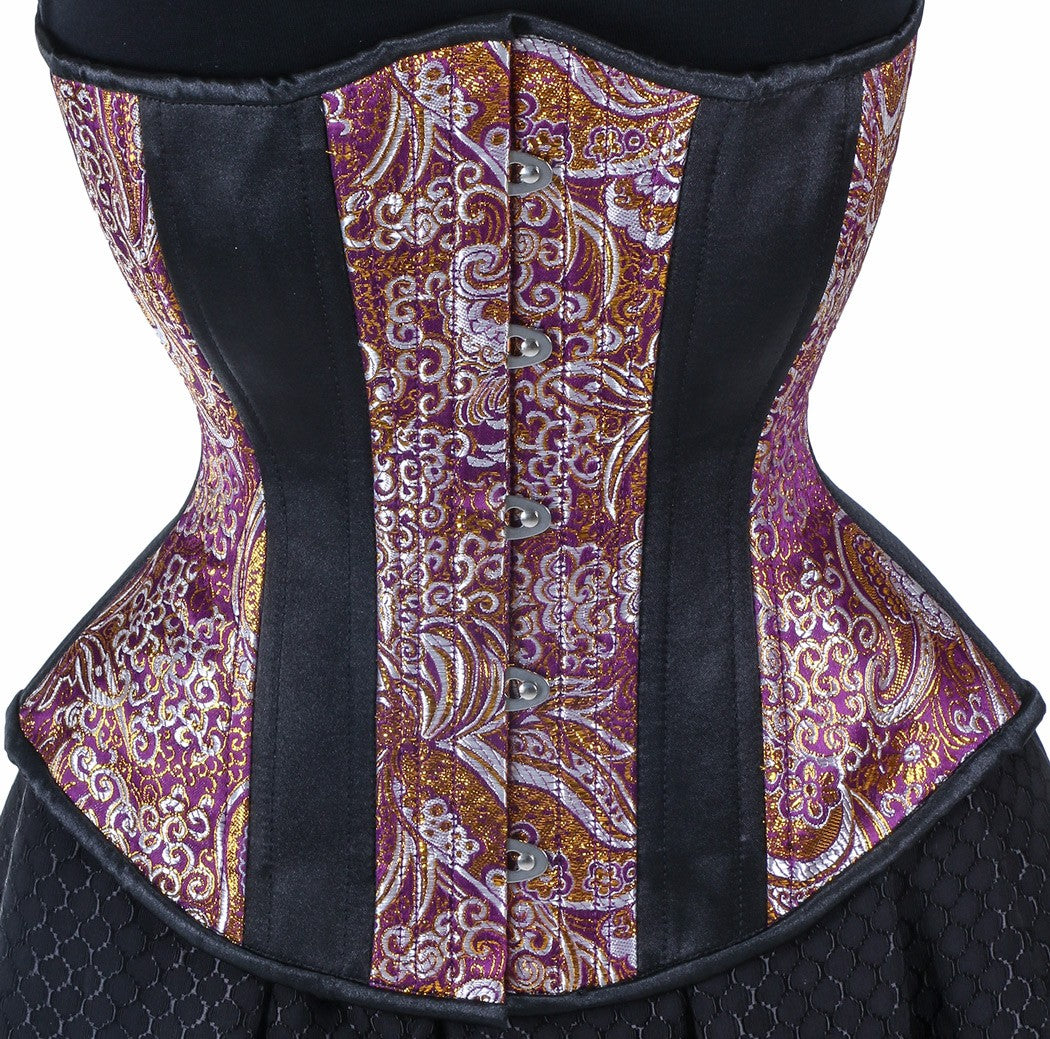 Exotic Purple Brocade Corset