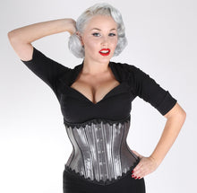 Load image into Gallery viewer, Gunmetal Corset