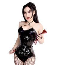 Load image into Gallery viewer, Black Vinyl Hourglass Corset