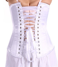 Load image into Gallery viewer, White Bridal Satin Corset