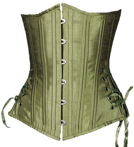 Peridot Green Long Corset