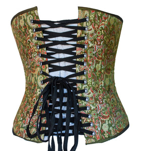 Steampunk Green Brocade Corset