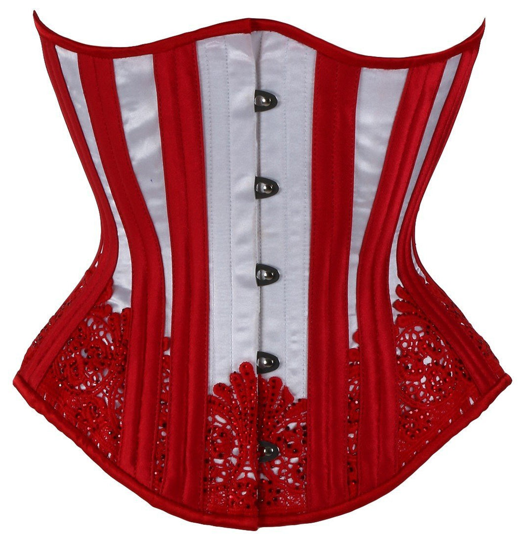 White with Red Sparkle, Hourglass Silhouette, Regular**