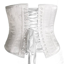 Load image into Gallery viewer, White Bridal Floral Corset