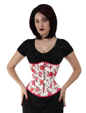 Load image into Gallery viewer, Cream Floral Corset