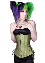 Load image into Gallery viewer, Peridot Green Long Corset