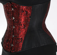 Load image into Gallery viewer, Red Flocking Corset