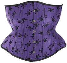 Load image into Gallery viewer, Purple Skulls Corset