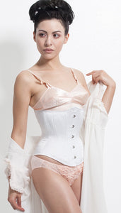 White Bridal Hourglass Corset