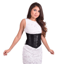 Load image into Gallery viewer, Black Floral Waist Cincher