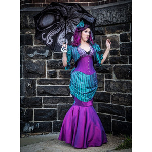 Gothic Purple Iridescent Corset