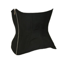 Load image into Gallery viewer, Black Cashmere with Silver Zipper, Hourglass Silhouette, Regular
