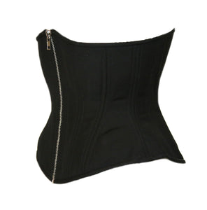 Black Cashmere with Silver Zipper, Hourglass Silhouette, Regular