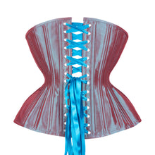 Load image into Gallery viewer, Aqua Iridescent Cupped Corset, Gemini Silhouette, Long