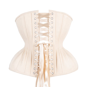Beige Cotton Cupped Corset, Gemini Silhouette, Long