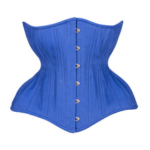 Load image into Gallery viewer, Classic Blue Cupped Corset, Gemini Silhouette, Long