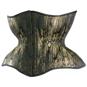 Antique Black and Aged Gold Cupped Corset, Gemini Silhouette, Regular