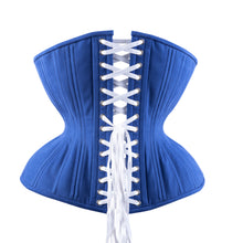 Load image into Gallery viewer, Classic Blue Cupped Corset, Gemini Silhouette, Regular