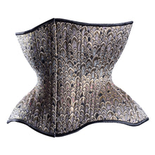 Load image into Gallery viewer, Scales of Silver & Gold Cupped Corset, Gemini Silhouette, Regular