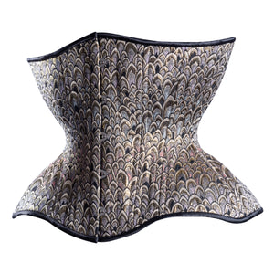 Scales of Silver & Gold Cupped Corset, Gemini Silhouette, Regular