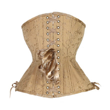 Load image into Gallery viewer, Gold Brocade Corset, Hourglass Silhouette, Long