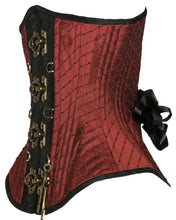 Load image into Gallery viewer, Maroon Corset with Clasps and Keys, Hourglass Silhouette, Regular