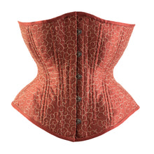 Load image into Gallery viewer, Terracotta and Sand Novice Corset, Hourglass Silhouette, Regular