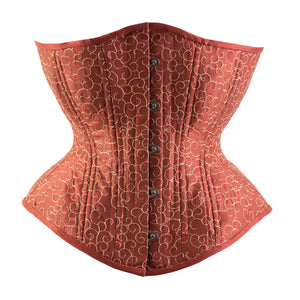 Terracotta and Sand Novice Corset, Hourglass Silhouette, Regular