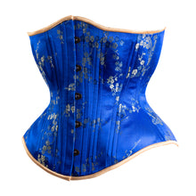 Load image into Gallery viewer, Royal Blue Cherry Blossom Novice Corset, Hourglass Silhouette, Regular