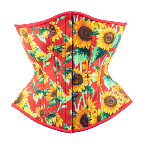 Sunny Sunflowers Novice Corset, Hourglass Silhouette, Regular