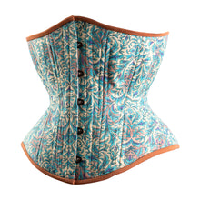 Load image into Gallery viewer, Bohemian Teal Novice Corset, Hourglass Silhouette, Regular