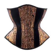Load image into Gallery viewer, Copper Flocking Novice Corset, Hourglass Silhouette, Regular