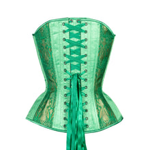 Load image into Gallery viewer, Emerald Overbust Corset, Hourglass Silhouette, Regular