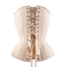 Load image into Gallery viewer, Beige Cotton Overbust Corset, Hourglass Silhouette, Regular