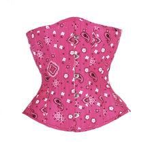Load image into Gallery viewer, Pink Bandanna Novice Corset, Hourglass Silhouette, Regular