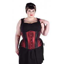 Load image into Gallery viewer, Red Burgundy Underbust Corset, Multi Silhouette