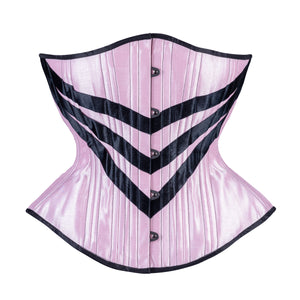 Pink Corset with Chevrons, Hourglass Silhouette, Regular**