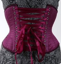 Load image into Gallery viewer, Purple Waspie Corset, Hourglass Silhouette, Regular