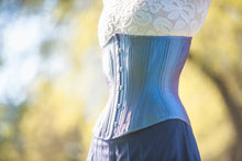 Load image into Gallery viewer, Indigo Iridescent Corset, Hourglass Silhouette, Regular