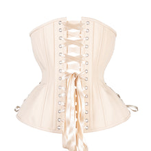 Load image into Gallery viewer, Beige Cotton Corset, Hourglass Silhouette, Long