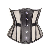 Load image into Gallery viewer, Black Fine Mesh Underbust Corset, Multi Silhouette