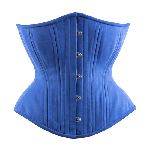 Classic Blue Corset, Hourglass Silhouette, Regular
