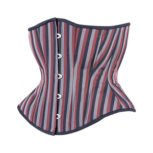 Classic Stripes Corset, Hourglass Silhouette, Regular