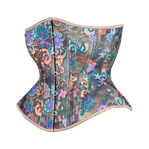 Fantasy Flowers Corset, Hourglass Silhouette, Regular