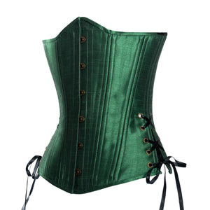 New Leaf Green Corset, Slim Silhouette, Long