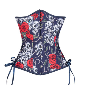 Tattoo Roses Corset, Slim Silhouette, Long