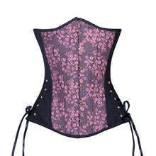 Load image into Gallery viewer, Black Berry Rose Corset, Slim Silhouette, Long