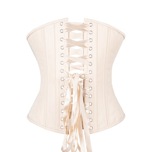 Beige Cotton Corset, Slim Silhouette, Regular